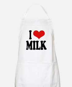 I Love Milk BBQ Apron