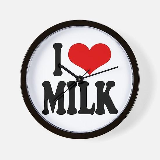 I Love Milk Wall Clock