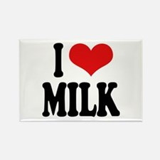 I Love Milk Rectangle Magnet