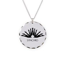 Synchronized Swimming Necklace Circle Charm