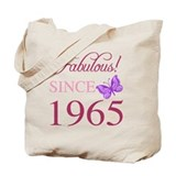 1965 birthday Canvas Bags