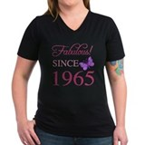 1965 birthday Womens V-Neck T-shirts (Dark)