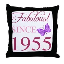 Fabulous Since 1955 Throw Pillow