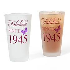 Fabulous Since 1945 Drinking Glass