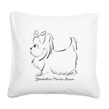 ByCatiaCho Yorkie Lover Square Canvas Pillow