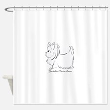 ByCatiaCho Yorkie Lover Shower Curtain