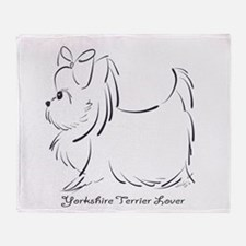 ByCatiaCho Yorkie Lover Throw Blanket