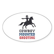 COWBOY MOUNTED SHOOTING Decal