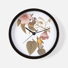 Audubon Blue Winged Yellow Warbler Wall Clock