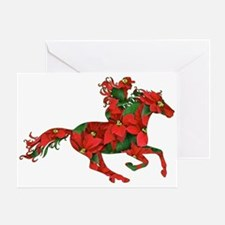 Christmas Horse Rider Greeting Card
