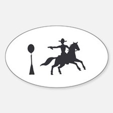 COWBOY MOUNTED SHOOTING Decal