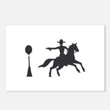 COWBOY MOUNTED SHOOTING Postcards (Package of 8)