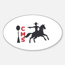 MOUNTED SHOOTING CMS Decal