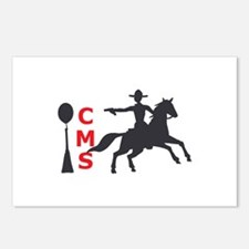 MOUNTED SHOOTING CMS Postcards (Package of 8)
