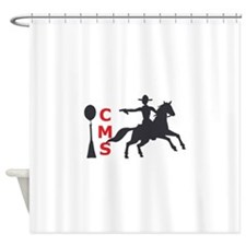 MOUNTED SHOOTING CMS Shower Curtain