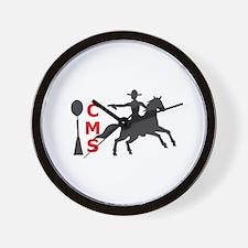 MOUNTED SHOOTING CMS Wall Clock