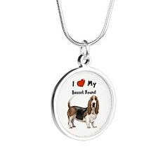 I Love My Basset Hound Necklaces
