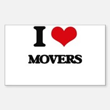I Love Movers Decal