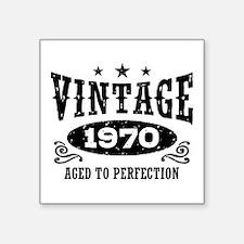 "Vintage 1970 Square Sticker 3"" x 3"""