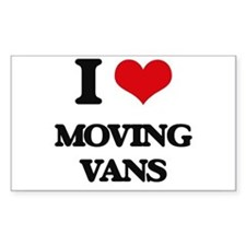 I Love Moving Vans Decal