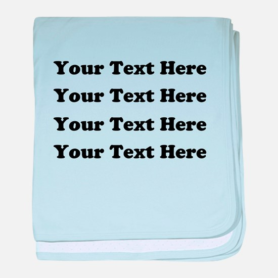 Custom add text baby blanket