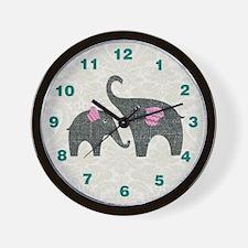Elephant Baby Nursery Wall Clock