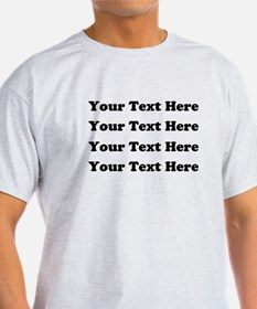 Custom add text T-Shirt