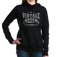 Vintage 1971 Women's Hooded Sweatshirt