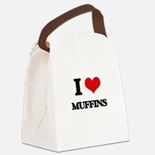 I Love Muffins Canvas Lunch Bag