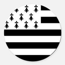 Brittany flag Round Car Magnet