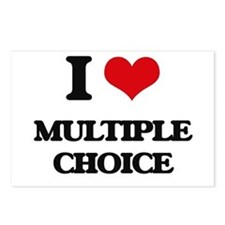 I Love Multiple Choice Postcards (Package of 8)