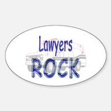 Lawyers Rock Oval Decal