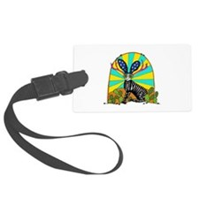 Sugar Skull Jackalope Luggage Tag