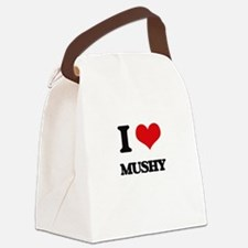 I Love Mushy Canvas Lunch Bag