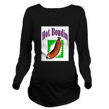 Hot Boudin Long Sleeve Maternity T-Shirt