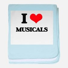 I Love Musicals baby blanket