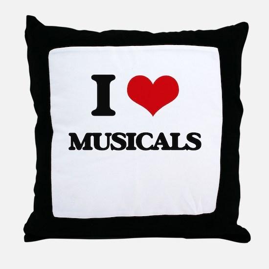 I Love Musicals Throw Pillow