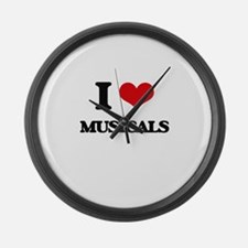 I Love Musicals Large Wall Clock