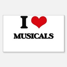I Love Musicals Decal