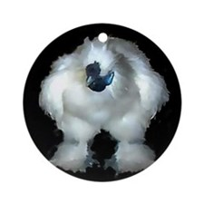 Silkie Rooster Ornament (Round)