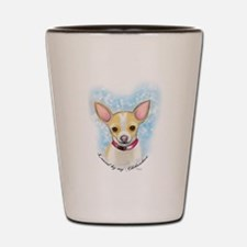Loved by Chihuahua Shot Glass