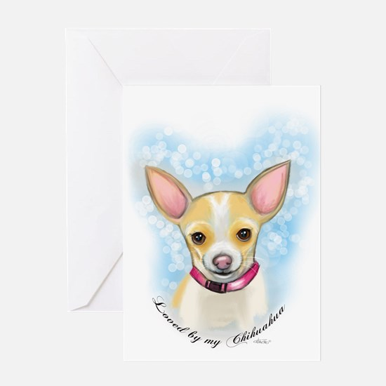 Loved by Chihuahua Greeting Cards