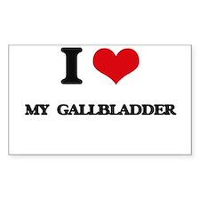 I Love My Gallbladder Decal