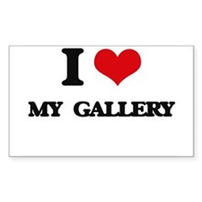 I Love My Gallery Decal