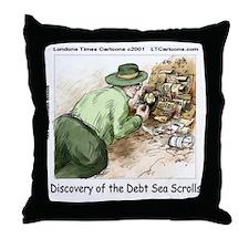 Debt Sea Scrolls Throw Pillow