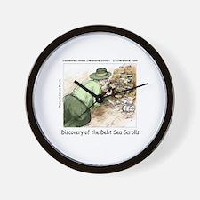 Debt Sea Scrolls Wall Clock