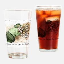 Debt Sea Scrolls Drinking Glass