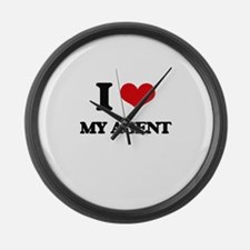 I love My Agent Large Wall Clock