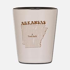 Vintage Toad Suck, Arkansas Shot Glass