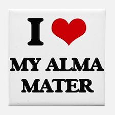 I Love My Alma Mater Tile Coaster